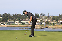 Chris Harrison putts on the 7th green during Sunday's Final Round of the 2018 AT&amp;T Pebble Beach Pro-Am, held on Pebble Beach Golf Course, Monterey,  California, USA. 11th February 2018.<br /> Picture: Eoin Clarke | Golffile<br /> <br /> <br /> All photos usage must carry mandatory copyright credit (&copy; Golffile | Eoin Clarke)