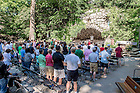 June 5, 2015; Fr. Bill Lies, C.S.C. celebrates Mass at the Grotto with the Class of 1990, Reunion 2015. (Photo by Matt Cashore/University of Notre Dame)