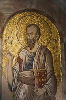 Europe/Turquie/Istanbul :  St Paul, Mosaïque indonartex,  Musée Kariye, Ancienne  église Saint-Sauveur