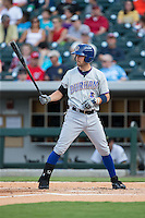 Nick Franklin (6) of the Durham Bulls at bat against the Charlotte Knights at BB&T BallPark on July 22, 2015 in Charlotte, North Carolina.  The Knights defeated the Bulls 6-4.  (Brian Westerholt/Four Seam Images)