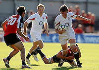 Photo: Richard Lane/Richard Lane Photography. .IRB Junior World Championship. England U20 v Canada U20. 10/06/2008. England's Gregor Gillanders attacks.