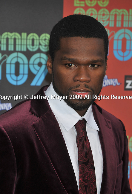 "UNIVERSAL CITY, CA. - October 15: Rapper Curtis ""50 Cent"" Jackson  attends Los Premios MTV 2009 Latin America Awards held at the Gibson Amphitheatre on October 15, 2009 in Universal City, California."