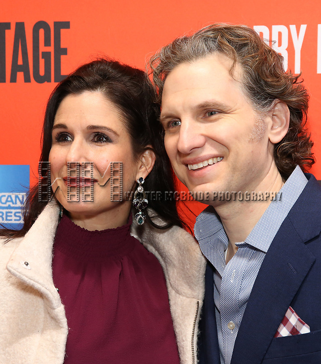 "Stephanie J. Block and Sebastian Arcelus attending the Broadway Opening Night Performance of  ""Lobby Hero"" at The Hayes Theatre on March 26, 2018 in New York City."