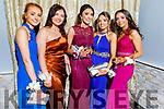 Grainne O'Connor (Cordal), Grace Daly (Currans), Laura Butler (Currow), Cait O'Mahoney (Currow) and Megan McKenna (Castleisland) at the St Pat's and Castleisland Community College Debs in the Earl of Desmond Hotel on Friday night.