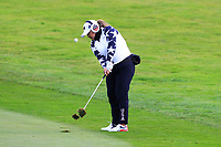Lizette Salas of Team USA on the 2nd fairway during Day 2 Foursomes at the Solheim Cup 2019, Gleneagles Golf CLub, Auchterarder, Perthshire, Scotland. 14/09/2019.<br /> Picture Thos Caffrey / Golffile.ie<br /> <br /> All photo usage must carry mandatory copyright credit (© Golffile | Thos Caffrey)