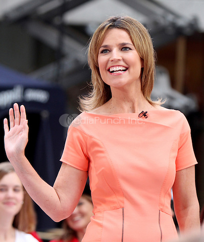 August 15, 2012 Savannah Guthrie host of NBC's Today Show Toyota Concert Series at Rockefeller Center in New York City..Credit:© RW/MediaPunch Inc.