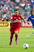 Ezequiel Lavezzi (11) of Paris Saint-Germain. Chelsea FC and Paris Saint-Germain played to a 1-1 tie during a 2012 Herbalife World Football Challenge match at Yankee Stadium in New York, NY, on July 22, 2012.