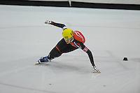 SHORTTRACK: HEERENVEEN: IJsstadion Thialf, 30-01-2015, StarClass 5 (NC-2) Europa Cup, Jeugdwedstrijd (t/m 16 jaar), Luca SPECHENHAUSER (#103   ITA), ©foto Martin de Jong
