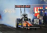 Oct. 31, 2008; Las Vegas, NV, USA: NHRA top fuel dragster driver Cory McClenathan during qualifying for the Las Vegas Nationals at The Strip in Las Vegas. Mandatory Credit: Mark J. Rebilas-