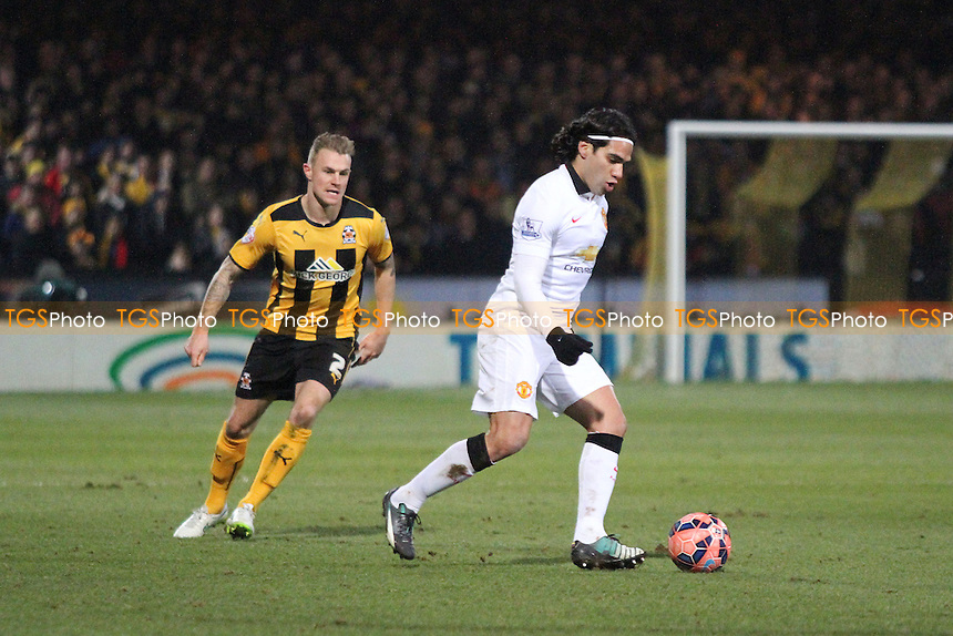Radamel Falcao García of Manchester United runs with the ball - Cambridge United vs Manchester United - FA Challenge Cup 4th Round Football at the R Costings Abbey Stadium, Cambridge - 23/01/15 - MANDATORY CREDIT: Mick Kearns/TGSPHOTO - Self billing applies where appropriate - contact@tgsphoto.co.uk - NO UNPAID USE