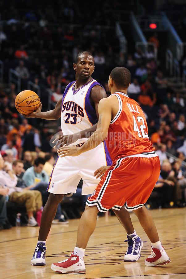 Jan. 11, 2010; Phoenix, AZ, USA; Phoenix Suns forward (23) Jason Richardson against Milwaukee Bucks at the US Airways Center. The Suns defeated the Bucks 105-101. Mandatory Credit: Mark J. Rebilas-