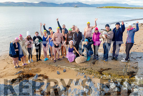 Ready to brave the water in Fenit to do their 12 days of Christmas swim on Saturday.<br />  .