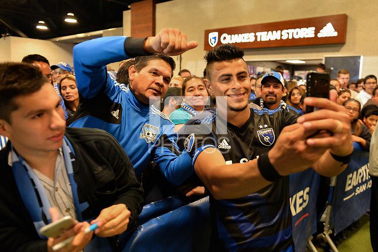 San Jose, CA - Saturday June 24, 2017: Darwin Ceren, fans during a Major League Soccer (MLS) match between the San Jose Earthquakes and Real Salt Lake at Avaya Stadium.