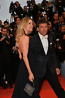 "CANNES, FRANCE. May 17, 2019: Antonio Banderas & Nicole Kimpel at the gala premiere for ""Pain and Glory"" at the Festival de Cannes.<br /> Picture: Paul Smith / Featureflash"