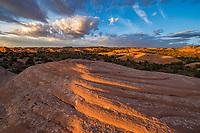 Fins near Milll Creek, Sand Flats Recreation Area, Utah,  Near Moab, Utah. Mummy Cave Trail