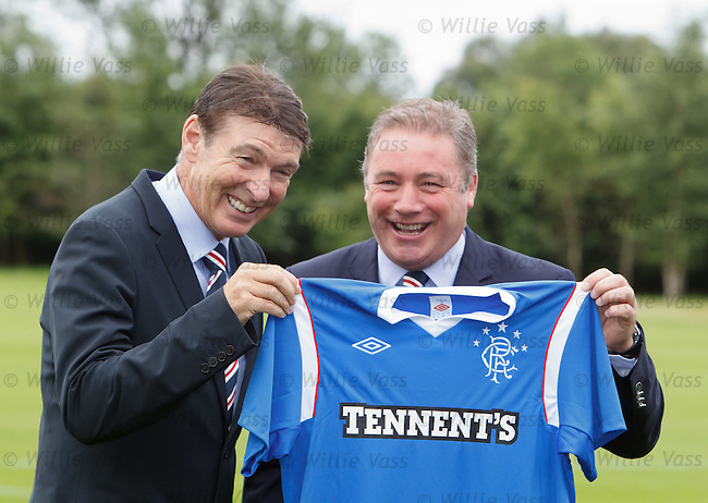 Gordon Smith and Ally McCoist together at Murray Park on the first day of pre-season training for Rangers