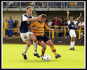 24/8/02         Copyright Pic : James Stewart                     .File Name : stewart-alloa v falkirk 20.FALKIRK'S LEE MILLER IS HELD OFF THE BALL BY CRAIG VALENTINE....James Stewart Photo Agency, 19 Carronlea Drive, Falkirk. FK2 8DN      Vat Reg No. 607 6932 25.Office : +44 (0)1324 570906     .Mobile : + 44 (0)7721 416997.Fax     :  +44 (0)1324 570906.E-mail : jim@jspa.co.uk.If you require further information then contact Jim Stewart on any of the numbers above.........