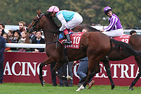 October 07, 2018, Longchamp, FRANCE - Enable with Frankie Dettori up at parade canter for the Qatar Prix de l'Arc de Triomphe (Gr. I) at  ParisLongchamp Race Course  [Copyright (c) Sandra Scherning/Eclipse Sportswire)]