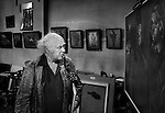 Josef Herman in his studio, London.<br />
