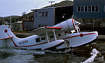 Antilles air boat, inter island sea plane coming ashore in St Thomas. Circa 1976..St Thomas,Virgin Islands, U.S.A.
