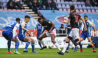 Bolton Wanderers' Sammy Ameobi competing with Wigan Athletic's Antonee Robinson <br /> <br /> Photographer Andrew Kearns/CameraSport<br /> <br /> The EFL Sky Bet Championship - Wigan Athletic v Bolton Wanderers - Saturday 16th March 2019 - DW Stadium - Wigan<br /> <br /> World Copyright &copy; 2019 CameraSport. All rights reserved. 43 Linden Ave. Countesthorpe. Leicester. England. LE8 5PG - Tel: +44 (0) 116 277 4147 - admin@camerasport.com - www.camerasport.com