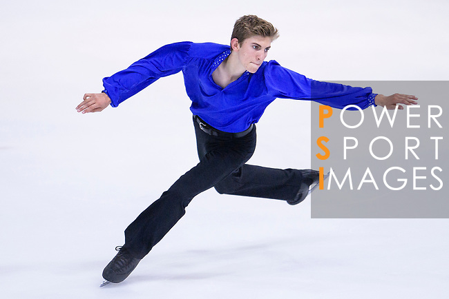 Christopher Kiel-Chisholm of Australia competes in Basic Novice Subgroup B Boys Free Skating during the Asian Open Figure Skating Trophy 2017 on August 02, 2017 in Hong Kong, China. Photo by Marcio Rodrigo Machado / Power Sport Images