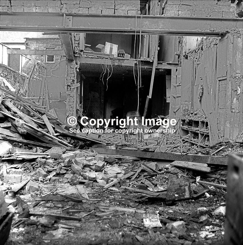McGleenan's Bar, English Street, Armagh, N Ireland, where the publican, John McGlennan, 45 years, married, 5 children, Roman Catholic, died in a UVF shooting and bomb attack the previous evening. A customer, Patrick Hughes, also died in the incident. 197508220610b<br />