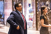 Michigan State University Professor Dr. Josef Guzman is seen in the lobby of Trump Tower in New York, NY, USA on January 3, 2017. <br /> Credit: Albin Lohr-Jones / Pool via CNP