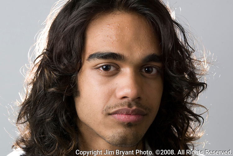 Singer Sanjaya Malakar photographed in a studio setting on May 18, 2008 in Seattle. Malakar was a finalist on the sixth season of American Idol where he gained national attention by advancing to 7th place with public votes despite being badly received by the show's judges. Jim Bryant Photo. ©2008. All Rights Reserved...