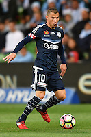 Melbourne, 17 December 2016 - JAMES TROISI (10) of the Victory controls the ball in the round 11 match of the A-League between Melbourne City and Melbourne Victory at AAMI Park, Melbourne, Australia. Victory won 2-1 (Photo Sydney Low / sydlow.com)