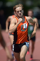 Apr 11, 2015; Los Angeles, CA, USA; Tristan Boblet of Occidental College places sixth in the 1,500m in 4:10.45 in a SCIAC multi dual meet at Occidental College. Photo by Kirby Lee