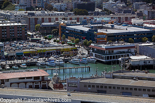 aerial photograph Anchorage Square Fisherman's Wharf San Francisco