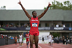 EUGENE, OR - JUNE 09: Jacarias Martin of the University of Houston celebrates after winning the 4x100 meter relay during the Division I Men's Outdoor Track & Field Championship held at Hayward Field on June 9, 2017 in Eugene, Oregon. (Photo by Jamie Schwaberow/NCAA Photos via Getty Images)