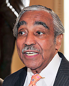 United States Representative Charlie Rangel (Democrat of New York) speaks to reporters in the Will Rogers Corridor just outside the U.S. House Chamber in the U.S. Capitol in Washington, D.C. on Tuesday, July 27, 2010..Credit: Ron Sachs / CNP.(RESTRICTION: NO New York or New Jersey Newspapers or newspapers within a 75 mile radius of New York City)