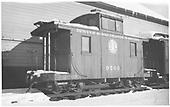 Short caboose #0500.<br /> D&amp;RGW    Taken by Hanft, Robert M. - 1/29/1939