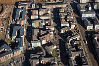 SOWETO, SOUTH AFRICA - JULY 19: An aerial view of newly constructed apartment complexes on July 19, 2018 in Jabulani section of Soweto, South Africa.  Soweto has seen some of the largest developments in infrastructure with shopping malls, public transport etc. South Africa's largest township is now almost self-sufficient whereas before the residents had to buy things in Johannesburg. (Photo by Per-Anders Pettersson/Getty Images)