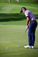 Rickie Fowler (USA) putts on 12 during round 1 of the Honda Classic, PGA National, Palm Beach Gardens, West Palm Beach, Florida, USA. 2/23/2017.<br /> Picture: Golffile | Ken Murray<br /> <br /> <br /> All photo usage must carry mandatory copyright credit (&copy; Golffile | Ken Murray)