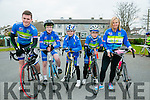 At the St. Brendan's N.S. FENIT Coastal Cycle fundraiser for St Brendan's N.S were l-r  Tom Guerin, Shane Costello, Michael Guerin, Troy Kennedy and Kate Guerin