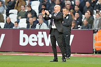 Burnley manager Sean Dyche during West Ham United vs Burnley, Premier League Football at The London Stadium on 3rd November 2018