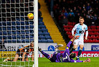 Blackburn Rovers' Harrison Reed scores his side's third goal <br /> <br /> Photographer Alex Dodd/CameraSport<br /> <br /> The EFL Sky Bet Championship - Blackburn Rovers v Hull City - Saturday 26th January 2019 - Ewood Park - Blackburn<br /> <br /> World Copyright © 2019 CameraSport. All rights reserved. 43 Linden Ave. Countesthorpe. Leicester. England. LE8 5PG - Tel: +44 (0) 116 277 4147 - admin@camerasport.com - www.camerasport.com