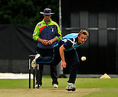 CB40 Cricket - Scottish Saltires V Warwickshire Bears at Grange CC - Edinburgh - Saltires win - Saltires best bowler on the day was Josh Davel with figures of 3 for 30 and a run-out - Picture by Donald MacLeod - Umpire is Jeremy Lloyds - 18.07.11 - 07702 319 738 - www.donald-macleod.com