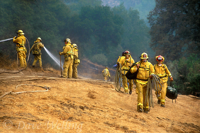 870000002 county firefighters mop up a massive wildfire near interstate 5 in newhall in los angeles county california