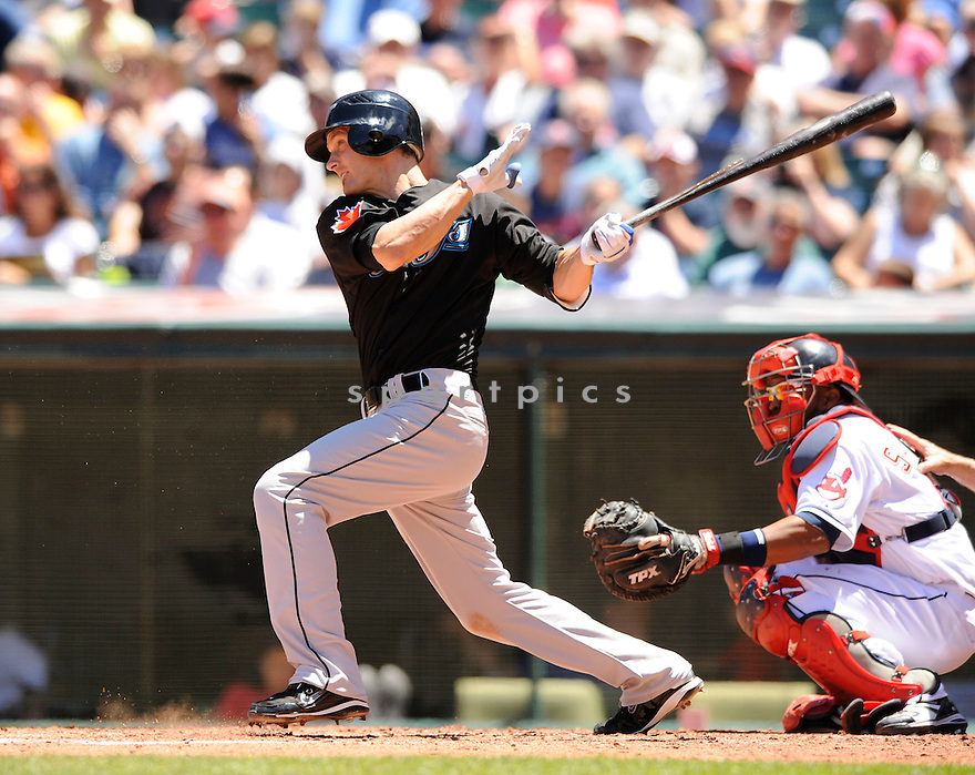 NICK GREEN,  of the Toronto Blue Jays ,  in action during the Blue Jays game against the Cleveland Indians in Cleveland, Ohio  on July 1, 2010. The Cleveland Indians beat the Toronto Blue Jays   6-1..