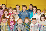 FUN: Children from Listry having fun at the official opening of Listry Community Centre on Saturday were front l-r: JP Courtney, Abigail Gallagher, Cathal Whelton, Niamh Broderick, Colin O'Sullivan and Holly Barrett. Back l-r: Sinead O'Sullivan, Laura Whelton, Aisling O'Sullivan, Conor Broderick, Laura Daly, Christopher Scully, Patrick Broderick, Aine Barrett and Lucy Barrett.   Copyright Kerry's Eye 2008