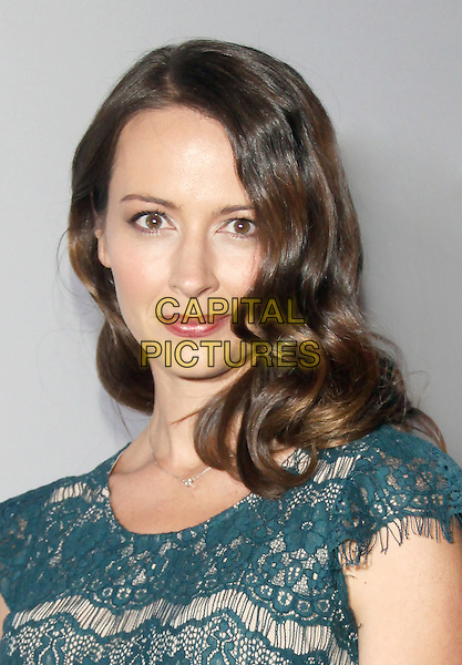 Amy Acker<br /> at the The Paley Center for Media Presents PaleyFest: Made in NY &quot;Person Of Interest&quot; at the Paley Center for Media  in New York City, NY, USA, October 3rd 2013. <br /> portrait headshot green lace <br /> CAP/MPI/RW<br /> &copy;RW/ MediaPunch/Capital Pictures