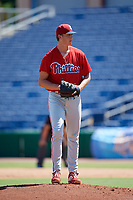 Philadelphia Phillies pitcher James McArthur (26) gets ready to deliver a pitch during a Florida Instructional League game against the Toronto Blue Jays on September 24, 2018 at Spectrum Field in Clearwater, Florida.  (Mike Janes/Four Seam Images)