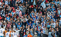 Players & supporters celebrate as George Thomas (centre of players) of Coventry City makes it 2 0 during the The Checkatrade Trophy / EFL Trophy FINAL match between Oxford United and Coventry City at Wembley Stadium, London, England on 2 April 2017. Photo by Andy Rowland.