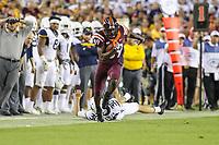 Landover, MD - September 3, 2017: Virginia Tech Hokies wide receiver James Clark (89) in action during game between Virginia Tech and WVA at  FedEx Field in Landover, MD.  (Photo by Elliott Brown/Media Images International)