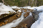 "Franconia Notch State Park - The Pemigewasset River just above ""The Basin"" viewing area in Lincoln, New Hampshire USA during the spring months"