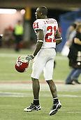 January 5th, 2008:  Rutgers Devin McCourty (21) jumps around in celebration after the International Bowl at the Rogers Centre in Toronto, Ontario Canada...Rutgers defeated Ball State 52-30.  ..Photo By:  Mike Janes Photography
